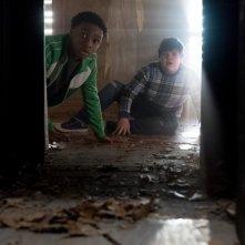 Piccoli brividi 2: I fantasmi di Halloween, Jeremy Ray Taylor e Caleel Harris in un'immagine del film