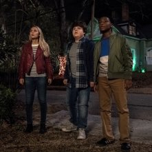 Piccoli brividi 2: I fantasmi di Halloween, Madison Iseman, Caleel Harris e Jeremy Ray Taylor in un momento del film