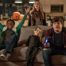 Piccoli brividi 2: I fantasmi di Halloween, Madison Iseman, Caleel Harris e Jeremy Ray Taylor in un'immagine del film
