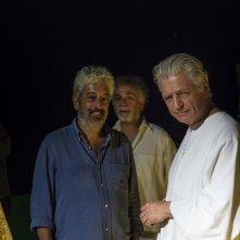 Il Flauto Magico di Piazza Vittorio: Fabrizio Bentivoglio, Gianfranco Cabiddu e Mario Tronco in una scena del film