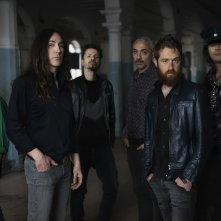 Noi siamo Afterhours: Manuel Agnelli con gli altri membri della band in un'immagine del documentario