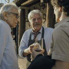 Notti magiche: Giancarlo Giannini, Mauro Lamantia e Roberto Herlitzka in una scena del film