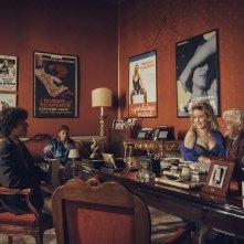 Notti magiche: Giancarlo Giannini, Mauro Lamantia e Marina Rocco in una scena del film