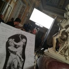 Bernini: un'immagine dal set del documentario