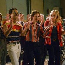 Bohemian Rhapsody: Rami Malek, Joseph Mazzello e Ben Hardy in una scena del film