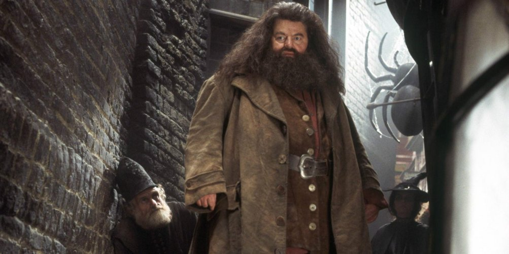 Robbie Coltrane As Hagrid In Harry Potter