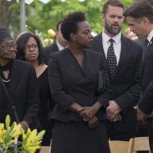 Widows - Eredità criminale: Viola Davis e Colin Farrell in un momento del film