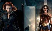 Scarlett Johansson e Gal Gadot come Wonder Woman e Black Widow in una fan art