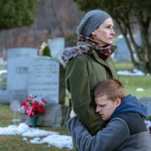 Ben is Back: Julia Roberts e Lucas Hedges in una scena