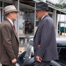 The Highway Men: Woody Harrelson e Kevin Costner in una foto del film