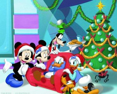 MICKEY Mouse Christmas Jumper Cartoni Animati Divertenti Disney Natale Regali Per Adulti /& Bambini Top