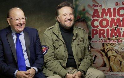 """Boldi e De Sica di nuovo insieme in Amici come prima: """"Siamo i Batman e Robin della commedia italiana"""""""