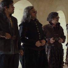 Moschettieri del Re: La Penultima Missione, i quattro spadaccini in una scena