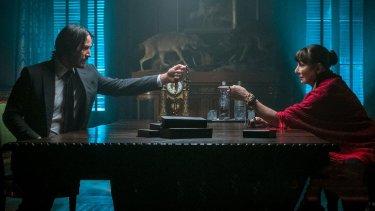 John Wick 3 Keanu Reeves Anjelica Huston