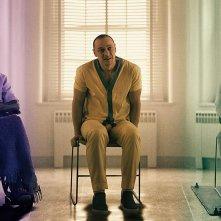 Glass: Samuel L. Jackson, Bruce Willis e James McAvoy in una scena del film