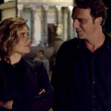 Non Mentire: Alessandro Preziosi e Greta Scarano in una scena della serie