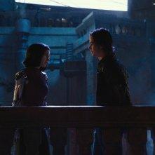 Alita - Angelo della battaglia: Rosa Salazar insieme a Keean Johnson in una scena