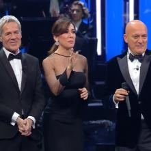 Sanremo 2019: Claudio Bisio, Virginia Raffaele e Claudio Baglioni