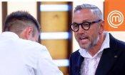 """Masterchef Italia 8, Bruno Barbieri contro Alessandro: """"Non ridere altrimenti mi inca..o!"""""""