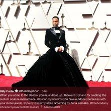 Oscar 2019: Billy Porter con il suo abito lungo