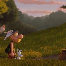 Asterix e il segreto della pozione magica: Asterix e Obelix in una scena del film