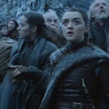 Il trono di spade: Maisie Williams nell'episodio Winterfell
