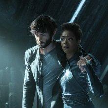 Star Trek: Discovery, Sonequa Martin-Green e  Ethan Peck in una scena dell'episodio If Memory Serves
