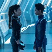 Star Trek Discovery: Michelle Yeoh e Sonequa Martin-Green nell'episodio The Red Angel