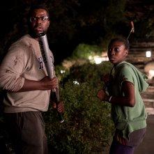 Noi: Winston Duke, Shahadi Wright Joseph in una scena del film