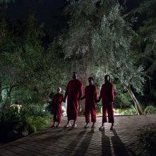Noi: Lupita Nyong'o, Winston Duke, Evan Alex, e Shahadi Wright Joseph in una scena del film
