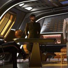 Star Trek Discovery: Wilson Cruz, Anson Mount, Ethan Peck, Sonequa Martin-Green nell'episodio Perpetua Infinità