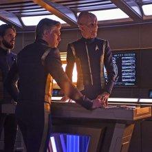 Star Trek Discovery: Doug Jones, Anson Mount e Shazad Latif nell'episodio Perpetua Infinità