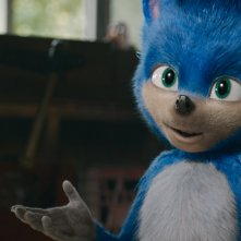 Sonic Il Film: Sonic in una scena del film