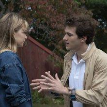 The Society: Rachel Keller, Alex Fitzalan in una scena della serie