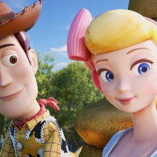 Toy Story 4: Woody e Bo Peep in una scena del film