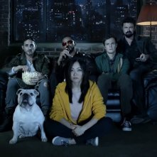 The Boys: Karl Urban, Nathan Mitchell, Chace Crawford, Jack Quaid, Karen Fukuhara in una scena della serie