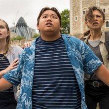 Spider-Man - Far From Home, Angourie Rice, Zendaya, Jacob Batalon in una scena del film