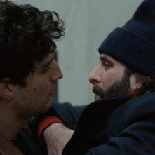 Due amici: Vincent Macaigne e Louis Garrel in  una scena del flm