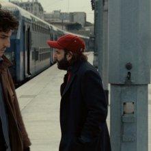 Due amici: una scena del flm con Vincent Macaigne e Louis Garrel