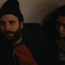 Due amici: Vincent Macaigne e Golshifteh Farahani durante una scena