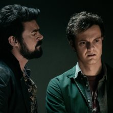 The Boys: una scena della serie con Karl Urban e Jack Quaid