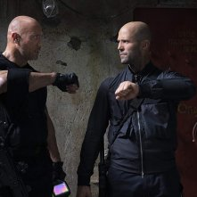 Fast & Furious - Hobbs &  Shaw: Jason Statham, Dwayne Johnson in una scena del film
