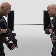 Fast & Furious - Hobbs &  Shaw: Jason Statham con Dwayne Johnson in una scena