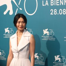 Venezia 2019: Gana Bayarsaikhan al photocall di Waiting for the Barbarians