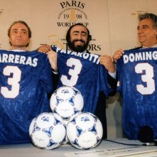 Pavarotti: Luciano Pavarotti, José Carreras e Placido Domingo in una scena del documentario