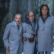 Sono solo fantasmi: Christian De Sica, Gianmarco Tognazzi e Carlo Buccirosso in  una scena del film