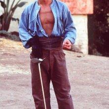 Johnny Depp sul set di Don Juan de Marco, maestro d'amore