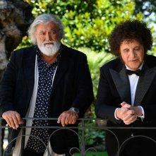 La mia banda suona il pop: Christian De Sica e Diego Abatantuono in una scena del film