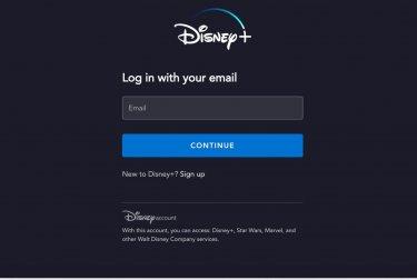 Disney Plus Login Page