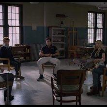 The New Mutants: una scena del film con Alice Braga, Maisie Williams, Anya Taylor-Joy, Charlie Heaton, Henry Zaga